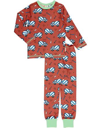 Meyadey Pyjama set long CEMENT TRUCK orange C3507-M437 GOTS