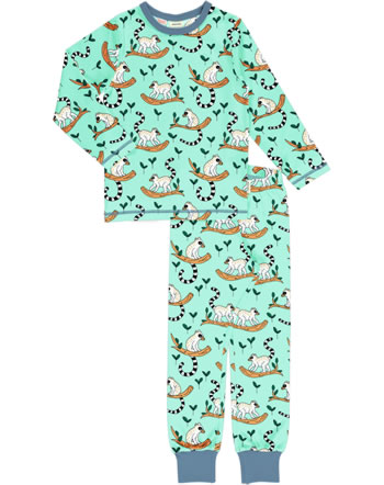 Meyadey Pyjama set long MAKI JUNGLE blue C3505-M437 GOTS