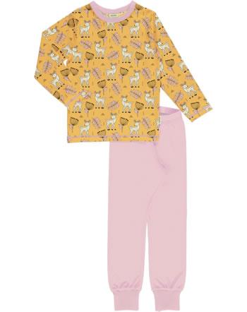 Meyadey Pyjama lang POPPY DEER gelb C3465-M437 GOTS