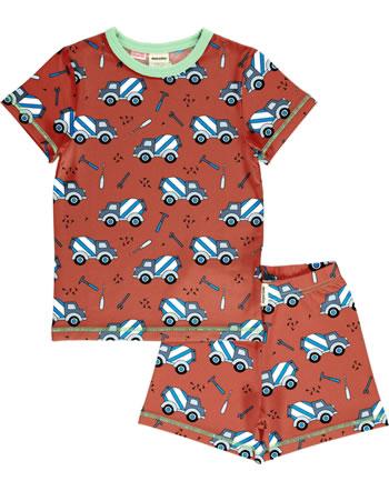 Meyadey Pyjama manche courtes CEMENT TRUCK orange C3507-M439 GOTS