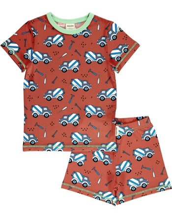 Meyadey Pyjama short sleeve CEMENT TRUCK orange C3507-M439 GOTS