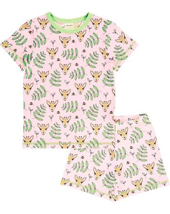 Meyadey Pyjama manche courtes GIRAFFE GARDEN rose C3513-M439 GOTS