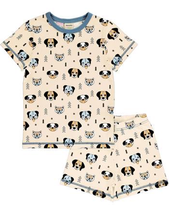 Meyadey Pyjama manche courtes HAPPY DOGS orange C3514-M439 GOTS