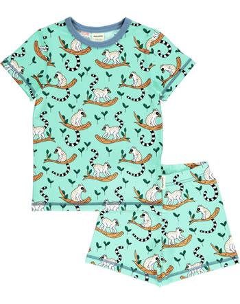 Meyadey Pyjama manche courtes MAKI JUNGLE bleu C3505-M439 GOTS