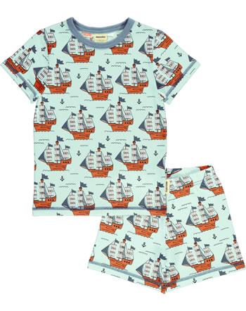 Meyadey Pyjama manche courtes PIRATE ADVENTURES bleu C3515-M439 GOTS
