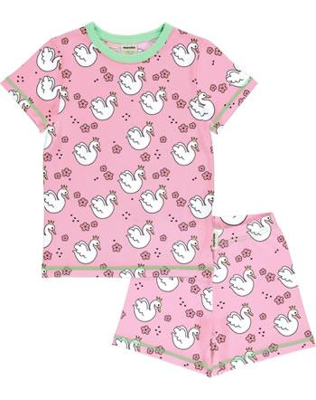 Meyadey Pyjama manche courtes SWAN QUEEN rose C3506-M439 GOTS