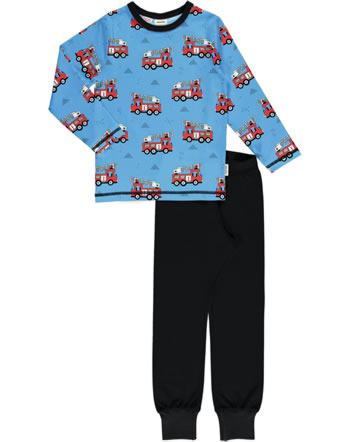 Meyadey Pyjama long sleeve FIRE TRUCKS blue GOTS D3394-M437