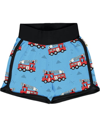 Meyadey Runner Shorts FIRE TRUCKS blue GOTS D3394-M530
