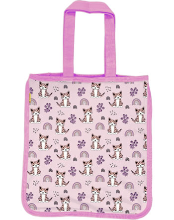 Meyadey Shopping Bag KITTY RAINBOW pink C3461-M494 GOTS