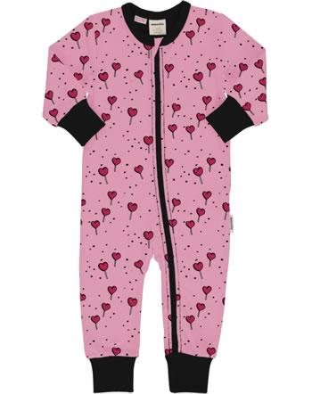 Meyadey Grenouillère LOLLIPOP LOVE pink C3462-M477 GOTS