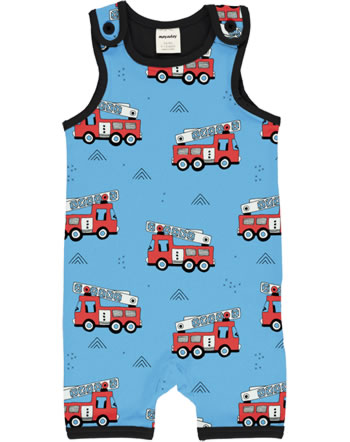 Meyadey Playsuit Short FIRE TRUCKS blue GOTS D3394-M377