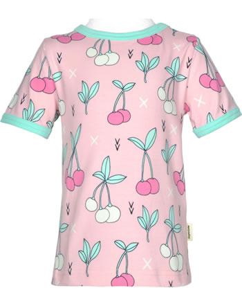 Meyadey T-shirt manches courtes CHERRY KISS rose GOTS D3390-M468