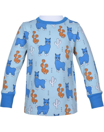 Meyadey T-Shirt long sleeve ALPACA FRIENDS blue C3456-M467 GOTS