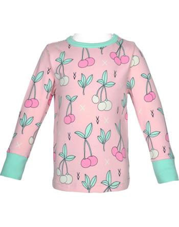 Meyadey T-shirt manches longues CHERRY KISS rose GOTS D3390-M467