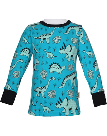 Meyadey T-Shirt Langarm DINO FOREST blau GOTS D3391-M467