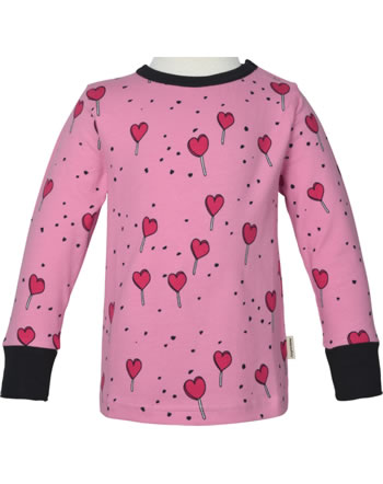 Meyadey T-Shirt long sleeve LOLLIPOP LOVE pink C3462-M467 GOTS