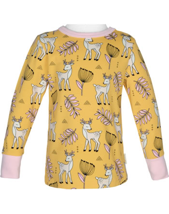 Meyadey T-Shirt long sleeve POPPY DEER yellow C3465-M467 GOTS