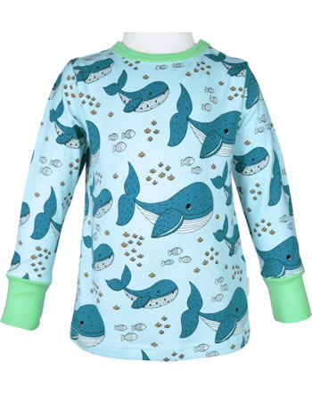 Meyadey T-Shirt long sleeve WHALE WATERS blue C3509-M467 GOTS
