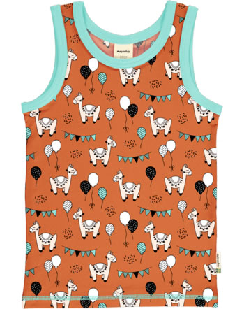 Meyadey Tanktop Undershirt CAMEL PARTY orange C3457-M471 GOTS