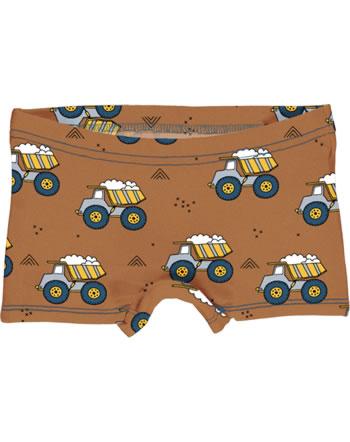 Meyadey Unterhose Boxer Panty DUMPING WHEELS braun YA14-14A GOTS