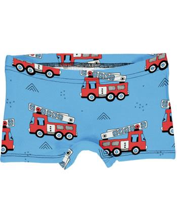 Meyadey Slips Boxer Panty FIRE TRUCKS bleu GOTS D3394-M513