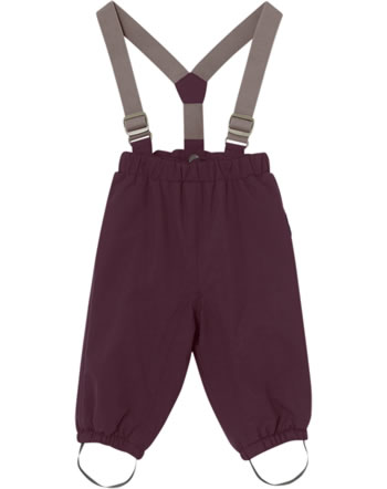Mini A Ture Snow pants removable straps WILAS winetasting plum 1193096700-480