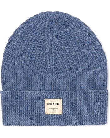Mini A Ture Strick-Mütze Beanie Merino Wolle BOJE citadel blue 123007052-5222