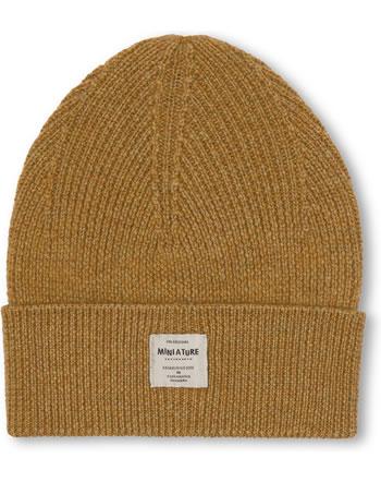 Mini A Ture Strick-Mütze Beanie Merino Wolle BOJE hazel brown 123007052-1311