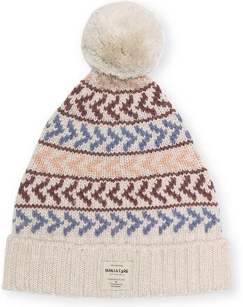 Mini A Ture Strick-Mütze Merino Wolle ARILD HOOD tuscany skin 1213017058-1140