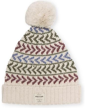 Mini A Ture Strick-Mütze Merino Wolle ARILD HOOD quarry 1213017058-9351