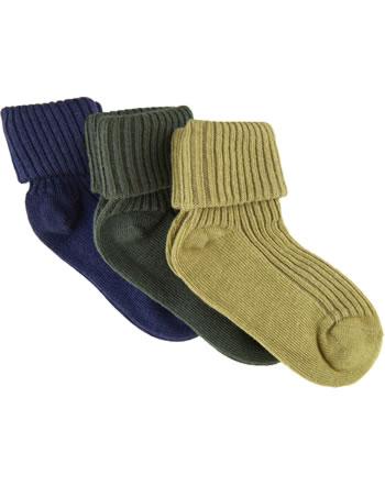 Minymo Baby socks 3 pack agave green 5755-902
