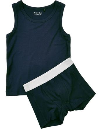 Minymo Underwear set boys BAMBOO dark navy 4876-778