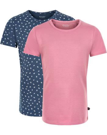 Minymo Mädchen T-Shirt 2er Set Rundhals Kurzarm BASIC mesa rose 3933-585