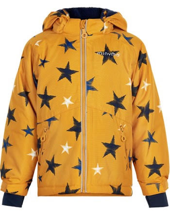 Minymo Snow jacket with hood OXFORD 8000 mm golden yellow 160447-3731