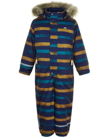 Minymo Snowsuit HERRINGBONE AOP navy 160493-7790