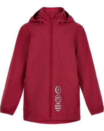 Minymo Softshell jacket with hood BASIC SOLID deep claret 5565-5666