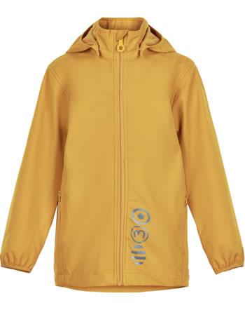 Minymo Softshell jacket with hood BASIC SOLID golden orange 5565-3310