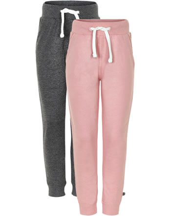 Minymo Sweat pants 2-pack BASIC 37 blusher 3937-568