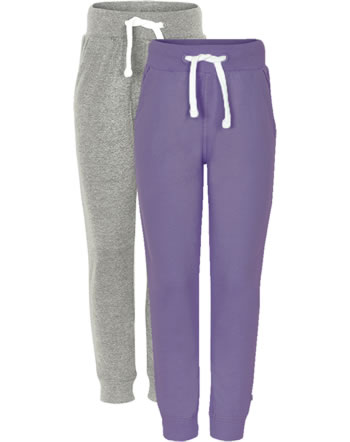 Minymo Sweat pants 2-pack BASIC 37 purple 3937-647