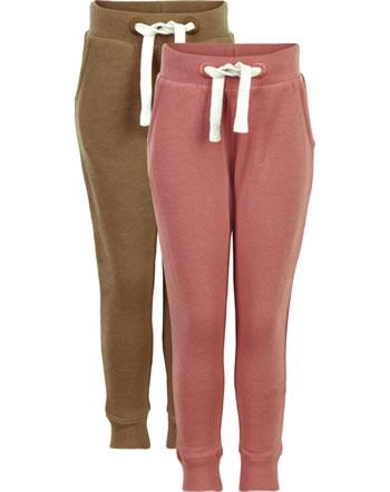 Minymo Sweat pants set of 2 BASIC 37 canyon rose 3937-411