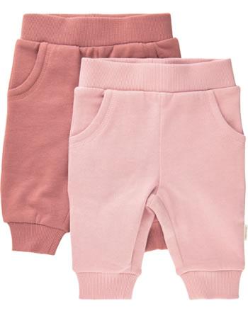 Minymo Sweat pants Set of 2 BASIC canyon rose 5760-411