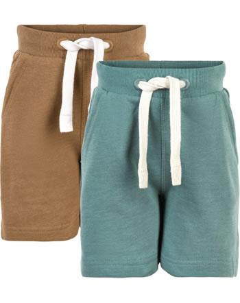 Minymo Sweat shorts 2-pack BASIC 53 brown 5553-236