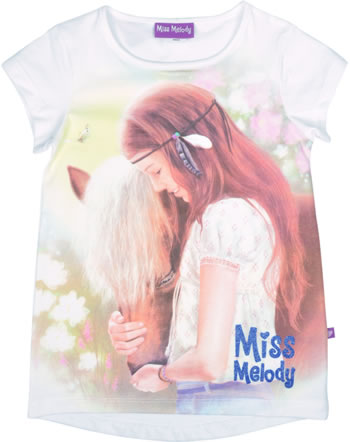 Miss Melody T-shirt manches courtes SILY ET PELLY blanc 84022-001