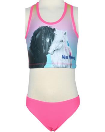 Miss Melody Bikini Tankini BLACK & WHITE HORSE neon pink 88825-872