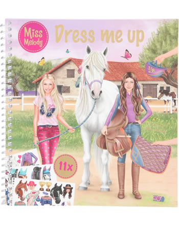 Miss Melody Dress me up livre à autocollantes 11498
