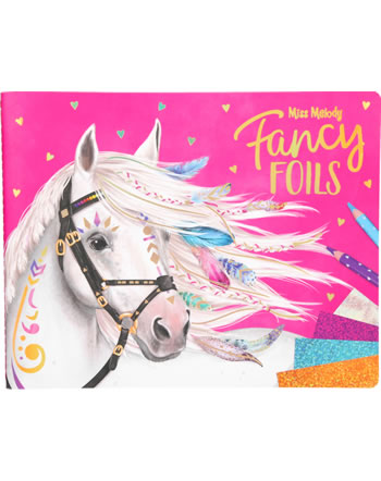 Miss Melody Fancy Foils Mal- und Stickerbuch