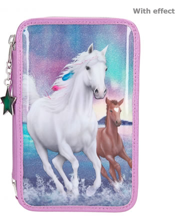 Miss Melody Pencil case with three parts and filling NORTHERN LIGHTS 11256