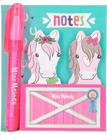 Miss Melody Sticky Notes with mini ball pen 6963