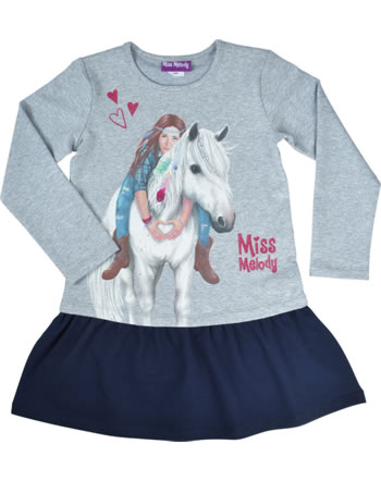 Miss Melody Robe manche longes Cheval blanc light grey melange 84061-217