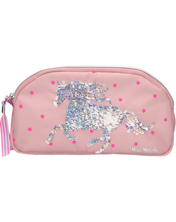 Miss Melody beauty bag with sequins mallow
